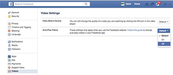 Cara Disable Auto Play Video Facebook