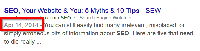 google results date